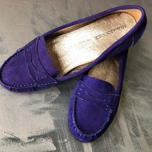 9f36e457359 Modern Vice Purple Suede Loafer- 6M